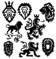stylized heraldic symbol vector image