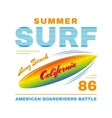 SurfIing poster vector image vector image