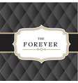 the forever retro black background image vector image vector image