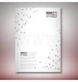 Three dimensional mesh stylish word www Brochure vector image