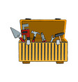 tools box with carpentry equipment instruments vector image vector image