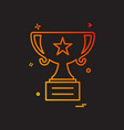 trophy icon design vector image vector image