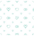 wedding icons pattern seamless white background vector image vector image