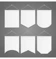 White Pennant Template Hanging on Wall Set vector image vector image