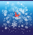 winter bright background with snowflakes and a vector image vector image