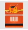Wok restaurant Template loyalty card design Flat vector image vector image