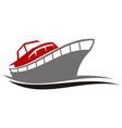 yacht charters island vector image vector image