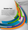 abstract colorful designed vector background vector image