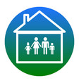 family sign white icon in vector image