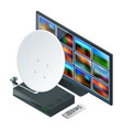 isometric icon an antenna a remote and receiver vector image