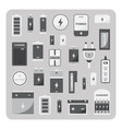 flat icons different battery set vector image
