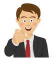 successful businessman pointing finger at you vector image