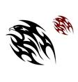 Tribal bird tattoo vector image