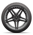 car tire wheel isolated vector image
