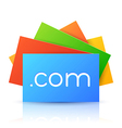 Domain Name on Colorful Paper Card vector image