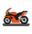 sport racing motorcycle vector image