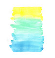 abstract yellow blue and green watercolor frame vector image