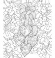 adult coloring bookpage a valentines day theme vector image vector image