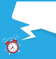 alarm time clock and speech bubble vector image