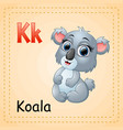 animals alphabet k is for koala vector image vector image