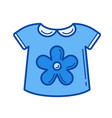 baby shirt line icon vector image vector image