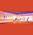 ballerina dance in studio ballet class training vector image