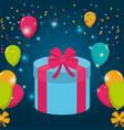 birthday celebration elements vector image vector image