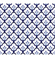 blue pattern seamless vector image