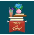 Books in public library back to school and vector image vector image