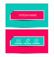 Business Card Retro Simple Layout - Template vector image vector image