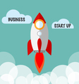 Business Start Up Concept With Flat Rocket vector image vector image