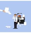 Businessman lot of work vector image