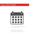 calendar icon flat web mobile icon vector image vector image