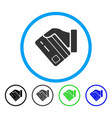 card payment rounded icon vector image