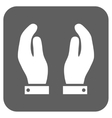 Care Hands Flat Squared Icon vector image vector image
