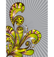 color floral hand drawn ornament vector image vector image