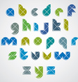Colorful spherical sectored font with diagonal vector image vector image