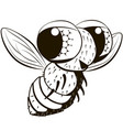 comical monochrome fly vector image vector image