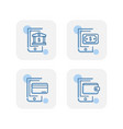 creative blue payment method icons design vector image vector image