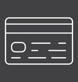credit card line icon business and finance vector image vector image