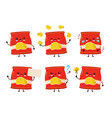 cute happy smiling chips pack set collection vector image vector image