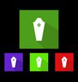 dead coffin icon vector image vector image