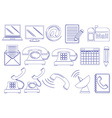 Doodle design of the different tools for vector image vector image