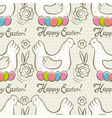 Easter Patterns easter eggs hens vector image vector image