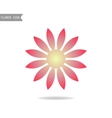 Floral flat icon symbol Silhouette flower
