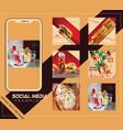 food social media post vector image vector image