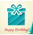 Happy birthday retro card with gift box vector image vector image
