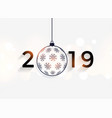 happy new year 2019 decorative background vector image