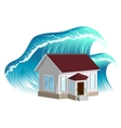 House flooding Property insurance vector image vector image