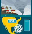 hurricane storm banner concept set flat style vector image vector image